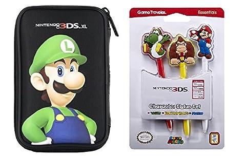 Pochette Luigi pour Nintendo DS* + 3 Stylets : Mario / Yoshi / Donkey Kong