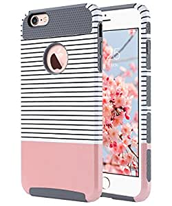 reputable site fee31 78eb1 ULAK iPhone 6 Case iPhone 6s Case Dual Layer Hybrid Shield TPU PC Hard Case  Cover Apple iPhone