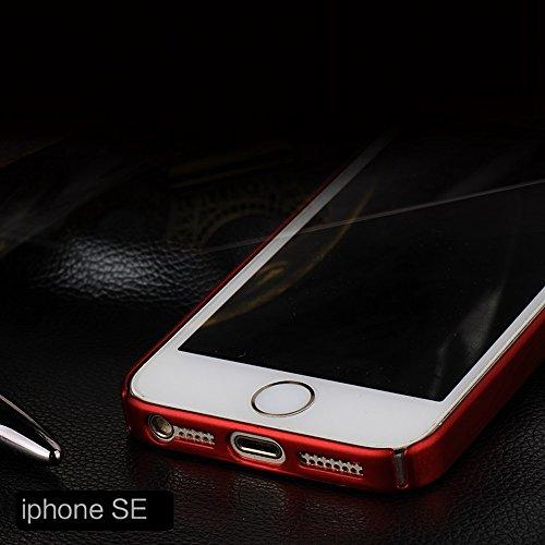 Coque iPhone SE/5S/5,Manyip Mince Lisse Protection Complète (Texture de Téléphone nu) Mat Récurer dur Coque Rigide Étui pour iPhone SE/5S/5(YQ1-5) B