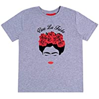 PRIMARK -:- sarcia.eu Grey, Short Sleeved Top, T-Shirt for Ladies Frida Kahlo XXS