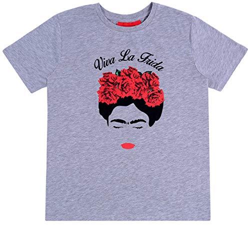 PRIMARK -:- sarcia.eu Grey, Short Sleeved Top, T-Shirt for Ladies Frida Kahlo S