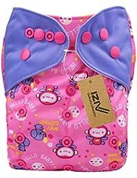 iziv (TM) recién nacidos orgánico con 1Dick Insert impermeable säuglings/ajustable/compartimento verwendbare/paño lavable pañales para bebé 0–3AñOS