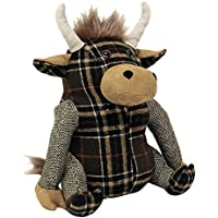 """Riva Paoletti Highland Cow Doorstop - Heavyweight Sand Filling - 100% Polyester - 22 x 24 x 15cm (9"""" x 9"""" x 6"""" inches) - Designed in the UK"""
