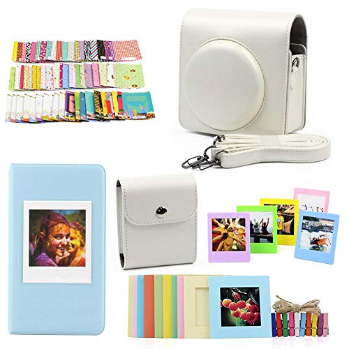 duhe189014 Kameratasche Set für Polaroid SP-3 Square Film Album Kamera Tasche Set Frame Photo Album Kameratasche Tasche Tasche für Polaroid SQ20 SQ10 SQ6 SP-3 weiß (Kamera Film Polaroid 80)