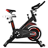 OneTwoFit | Professioneller Heimtrainer, Indoor Workout Cycling Spinning Bike mit perfekt einstellbarem Sattel,solidem