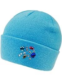 Everykid Bonnet En Tricot Fille Calotte Chapeau Replié Mi-Saison D Hiver  Strass (EK-20052-W16-MA0) incl. a12d68d163d
