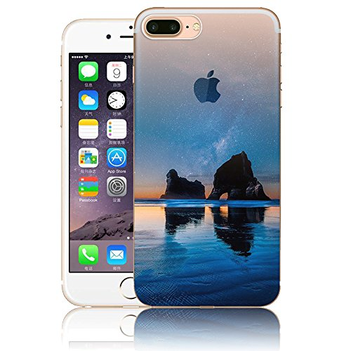 iPhone 7 Plus Hülle, Vandot Malerei Painting Case Cover für iPhone 7 Plus Natur Design Landscape Landschaft Schutzhülle aus TPU Silikon Muster Pattern Abdeckung Telefonkasten Ultra Dünn Leicht Soft Ha Color 20