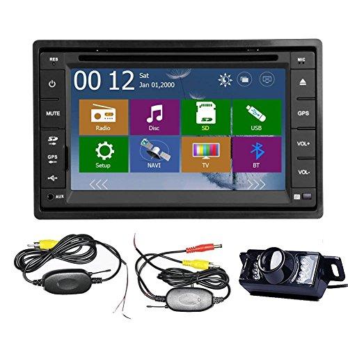 EINCAR Car Autoradio 2 DIN Stereo im Schlag GPS-Navigationssystem CD DVD-MP3-Player Touch-Screen-MP4 / USB/SD/AMFM-Radio Bluetooth Audio 3D-Karte Lenkrad-Steuerung + Wireless Backup-Kamera