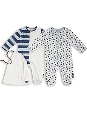 The Essential One - Baby Jungen Schlafanzuge/Schlafanzug/Einteiler/ Strampler (2-er Pack mit Beutel) - ESS166