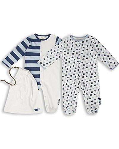 The Essential One - Baby Jungen Schlafanzuge/Schlafanzug/Einteiler/ Strampler (2-er Pack mit Beutel) - ESS166 - 62/68 (3-6 Monate)