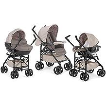 Chicco Trio Sprint Black - Sistema de paseo y viaje 3 en 1, capazo/carrito/coche, grupo 0+