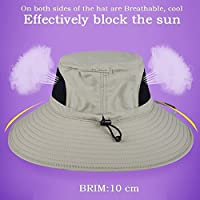 EINSKEY Wide Brim Sun Hat Summer UV Protection Beach Hat Showerproof Safari Boonie Hat Foldable Fishing Hat with Adjustable Chin Strap and Breathable Mesh Crown 30