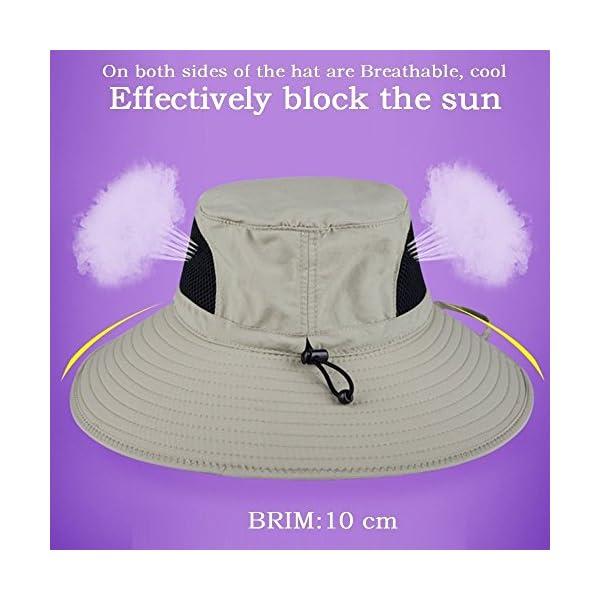 2db9f207 EINSKEY Wide Brim Sun Hat Summer UV Protection Beach Hat Showerproof Safari  Boonie Hat Foldable Fishing