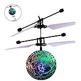 Balle Volante à induction hélicoptère RC Jouet Mini Vol Boule à Main Eclairage Multicolore avec Shinning LED Lumières pour Enfants, Adolescents, Adultes Lumineux D'éclairage Fille de Garçon Cadeau Drones(Vert)