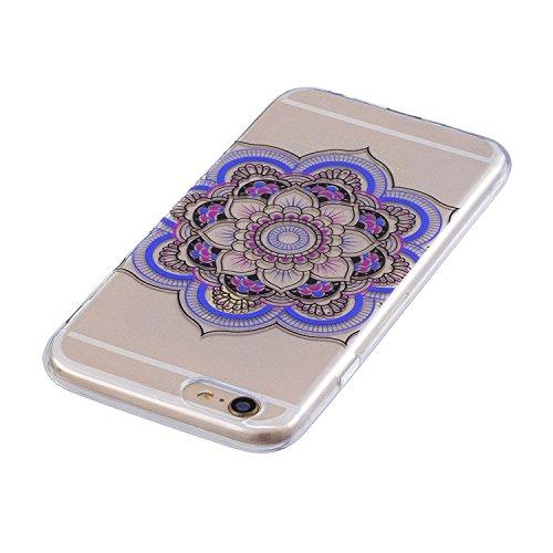 Cover per iPhone 6 / iPhone 6s Silicone Case , YIGA Moda Datura Cristallo Trasparente Cover Cassa Silicone Morbido TPU Case Caso Shell Protettiva Custodia per Apple iPhone 6 / iPhone 6s (4.7) FD61