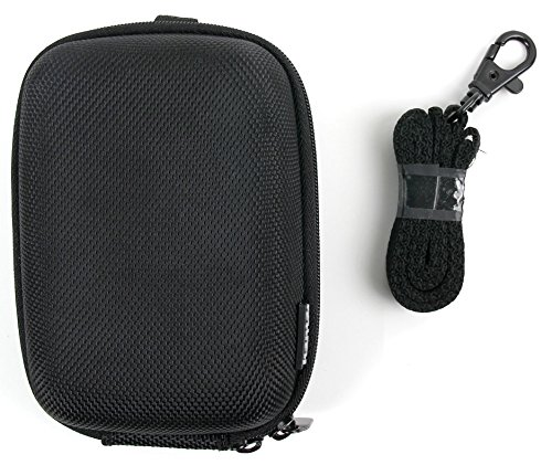 DURAGADGET Hard Water Resistant Rigid EVA Shell Case in Classic Black with...