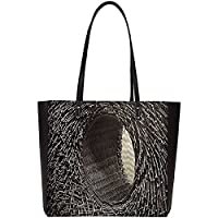 Snoogg Abstract Hole Basket Large Shoulder Bag Tote Faux Leather Handbag Satchel Tote