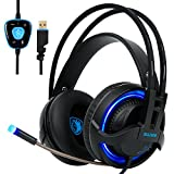SADES R2 Gaming Headset Ditial Surround Sound USB PC Stereo Headphones with High