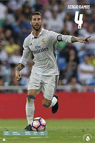 Grupo Erik Editores Real Madrid 2016/2017 Sergio Ramos Accion – Poster,