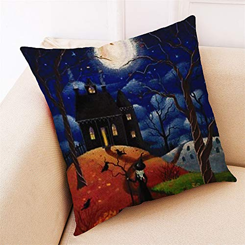 HARRYSTORE Home Decor Kissenbezug Happy Halloween Throw Kissenbezug KissenbezügeHome Decor Cushion Cover Happy Halloween Throw Pillowcase Pillow Covers