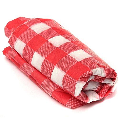 Rot rectanglegingham Tischdecke Kunststoff Einweg Tisch Bezug abwischbar Party Tischdecke Bezüge, 137,2x 274,3cm (Rot Karierte Kunststoff-tischdecke)
