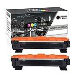 GPC Image Kompatibel Toner Patronen für Brother TN1050 TN-1050 (2 Schwarz) für Brother HL-1110 DCP-1510 HL-1210W DCP-1610W HL-1112 MFC-1810 HL-1212W MFC-1910W DCP-1612W DCP-1512 Drucker