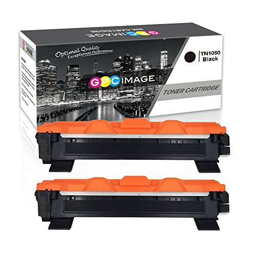 GPC Image Compatible Toner Cartridges for Brother TN1050 TN-1050 (2 Black) for Brother HL-1110 DCP-1510 HL-1210W DCP-1610W HL-1112 MFC-1810 HL-1212W MFC-1910W DCP-1612W DCP-1512 Printer