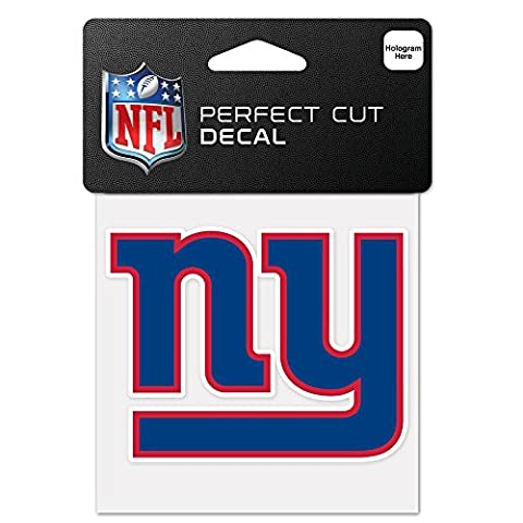 NFL New York Giants 63059011 Perfect Cut Color Decal, 4 x 4 , Black