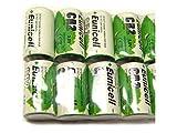 Lot de 10 Piles CR2 Lithium (CR15270) 3V 800mAh Eunicell