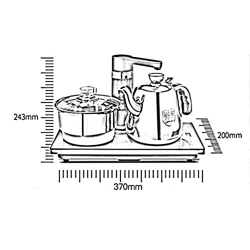 BCQ Microcomputer Control Automatic Add Water Electric Kettle 304 Stainless Steel 1L 1350W Electric Kettles,1