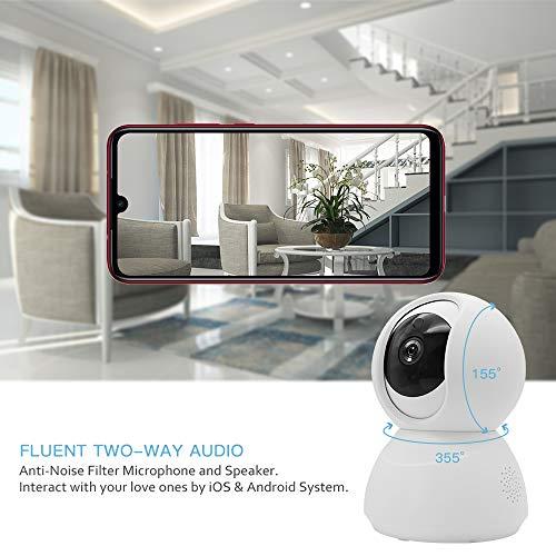 Duang 1080P Heimkamera, Indoor WiFi IP-Dome-Kamera Drahtlos, HD-Überwachungssicherheits-Smartkamera Baby älteres Tiermonitor Nachtsicht/Bewegungserkennung/Tracking/Fernalarm/Zweiweg