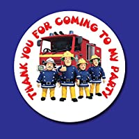 FIREMAN SAM BIRTHDAY PARTY STICKERS SWEET CONE SEALS X 35 GLOSS