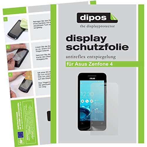 dipos I 2X Schutzfolie matt passend für Asus ZenFone 4 Folie Bildschirmschutzfolie
