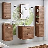 Badmöbel Set 'Marisa 60' Badezimmerschrank 6 tlg Waschbecken Waschtisch Spiegelschrank