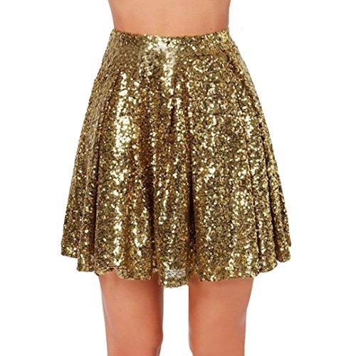 Milya Damen Faltenrock ,Skating Rock Mädchen Retro Vintage Bubble Skirt Rockabilly Swing Röcke