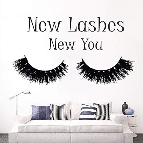 Neue Wimpern-look (BAOFU Wandtattoo Schlafzimmer Neue Wimpern Neue Wimperntusche Aufkleber Schönheitssalon Dekor Kosmetik Wandkunst 57 * 102 Cm)