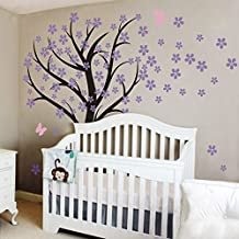 vinilo adhesivo para pared cerezo en flor rbol adhesivo para habitacin de nios flora beb