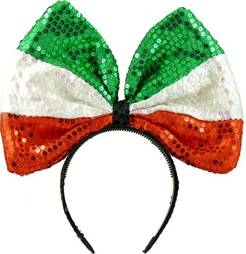 Pailletten Haarreif Schleife Italien EM & WM Bunny Ohren