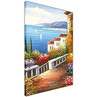 Charmant Sea View Von Ein Mediterranes Garten Auf Leinwand Gerahmt Home Dekoration  Bild, 06  A0