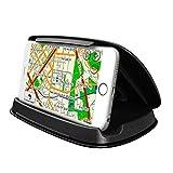 Aolvo Kfz-Handyhalterung, ABS Auto GPS Armaturenbrett Anti-Rutsch-Pad Basis Handy Halterung im Fahrzeug sicher für 3,0-7,0 Zoll Smartphones/andere GPS-Navigationsgeräte (13,5 x 10 x 1,5 cm)