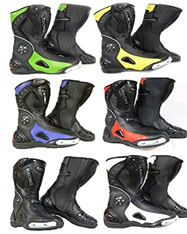 Motorbike Boots XTRM 705 Racing Sports Touring Boots New Design All Round Boots All Colours (BLACK/BLUE, EU45 / UK11)