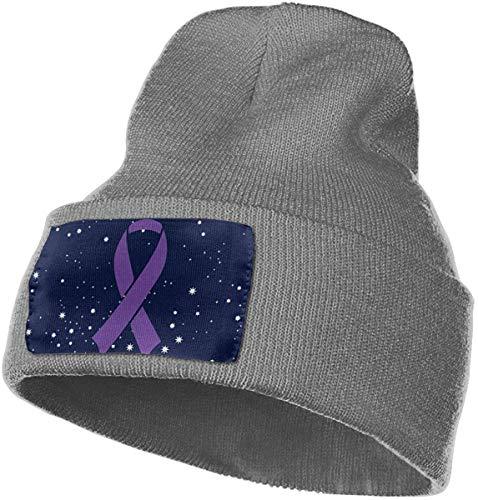 Mens Womens 100% Acryl Strickmütze Cap, Bauchspeicheldrüsenkrebs Awareness Ribbon Thick Beanie Hat