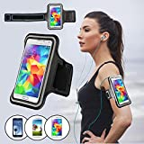 Elifestore® [Universal Samsung Galaxy Armband] For Samsung Galaxy S3/S4/S5 i9300/i9600 Comfortable Soft Sports Gym Jogging Armband with Adjustable Strap - 2014 Updated Universal Version