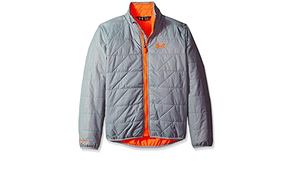 Under Armour Boys Storm ColdGear Infrared Micro Jacket Steel 035 //Bolt Orange Youth Small Under Armour Outdoors 1262583