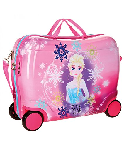 Imagen de disney abs maleta rigida cabina ruedas trolley convertible en  01 frozen rosa  alternativa