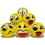 Zenball Anti-Stressball Emoji mit lustigen Gesichtern - 6 Stk. Knautsch Knet Smiley Grimasse Stressabbau