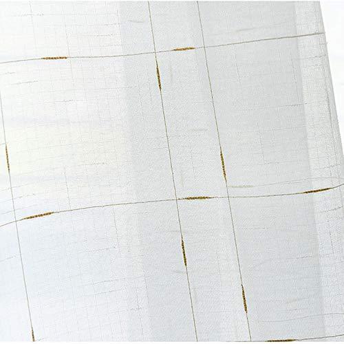 PENVEAT Moderne Leinen-Tüllvorhänge für das Schlafzimmer Wohnzimmer Die Küche für Dicke Voile-Tüllvorhänge für Gardinen, Gold, B600xL270cm, 4. Stangentasche -