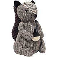 """Riva Paoletti Squirrel Doorstop - Heavyweight Sand Filling - 100% Polyester - 16 x 25 x 13cm (6"""" x 10"""" x 5"""" inches) - Designed in the UK"""