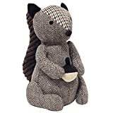 "Squirrel Doorstop - Heavyweight Sand Filling - 100% Polyester - 16 x 25 x 13cm (6"" x 10"" x 5"" inches) - Made by Riva Paoletti - Designed in the UK"