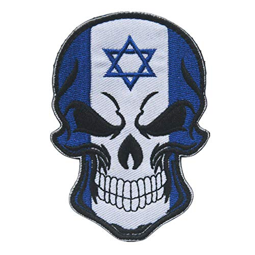 Israel Flag Patch (YA-Uzeun Skull Flag Patch Taktics Militär Morale Patch Logo Magic Sticker Badge Dekoration Israel)